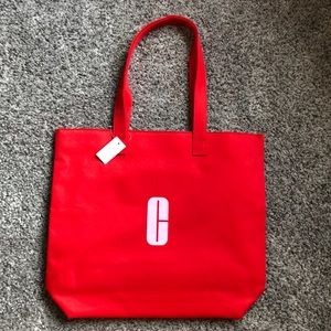 Clinique Red Tote Bag NWT